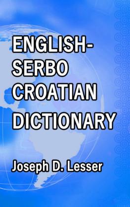 English / Serbo-Croatian Dictionary