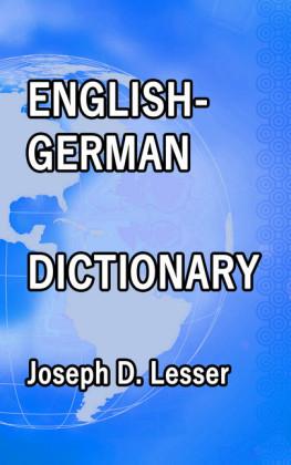 English / German Dictionary