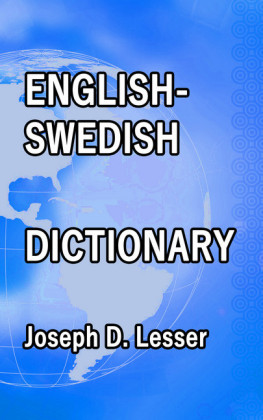 English / Swedish Dictionary