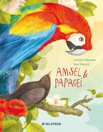 Amsel und Papagei