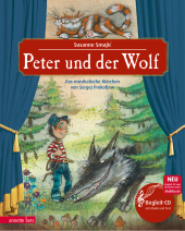 Peter und der Wolf, m. Audio-CD Cover