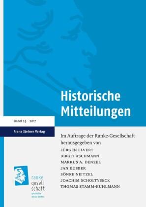 Historische Mitteilungen 29 (2017)