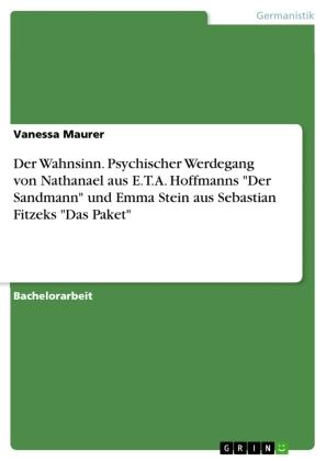 """Der Wahnsinn. Psychischer Werdegang von Nathanael aus E.T.A. Hoffmanns """"Der Sandmann"""" und Emma Stein aus Sebastian Fitze"""