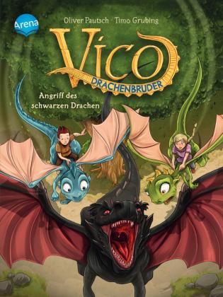 Cover des Mediums: Vico Drachenbruder - Angriff des schwarzen Drachen