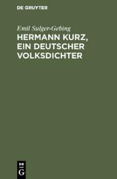 Hermann Kurz, ein deutscher Volksdichter