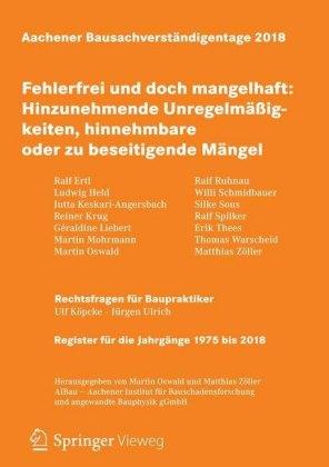 Aachener Bausachverständigentage 2018