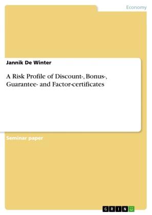 A Risk Profile of Discount-, Bonus-, Guarantee- and Factor-certificates