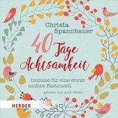 40 Tage Achtsamkeit, 2 Audio-CDs Cover