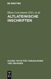 Altlateinische Inschriften