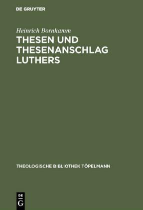 Thesen und Thesenanschlag Luthers