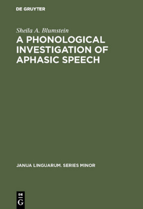 A Phonological Investigation of Aphasic Speech