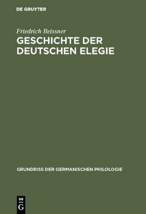 Geschichte der deutschen Elegie