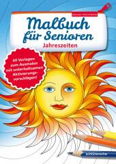 Malbuch für Senioren. Jahreszeiten