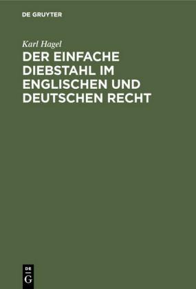Der einfache Diebstahl im englischen und deutschen Recht