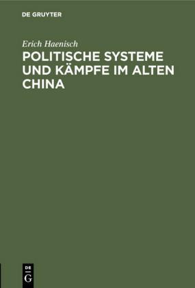 Politische Systeme und Kämpfe im alten China