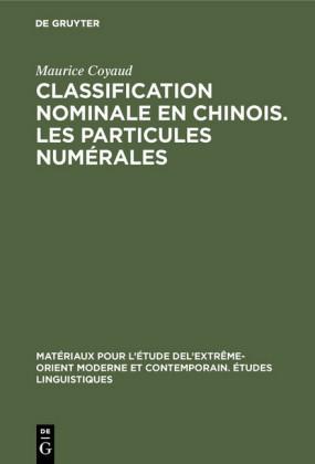 Classification nominale en chinois. Les particules numérales