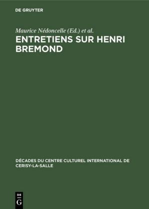 Entretiens sur Henri Bremond