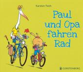 Paul und Opa fahren Rad