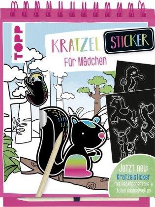 Kratzel-Sticker für Mädchen