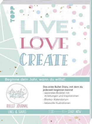 Bullet Journal Lovely Pastell Lines & Shapes - Live, love, create