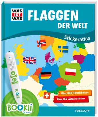 BOOKii - Was ist was - Flaggen der Welt Stickeratlas