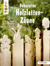 Dekorative Holzlatten-Zäune Cover