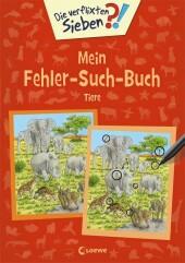 Die verflixten Sieben - Mein Fehler-Such-Buch - Tiere Cover