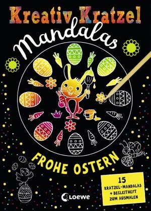 Kreativ-Kratzel Mandalas - Frohe Ostern