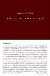 Antike Mysterien und Christentum