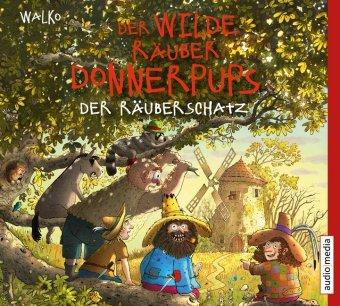 Der wilde Räuber Donnerpups - Der Räuberschatz, 1 Audio-CD