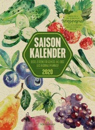 Saisonkalender - Obst & Gemüse - Graspapier-Kalender 2020