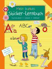 Mein buntes Sticker-Lernbuch: Buchstaben, Silben, Wörter
