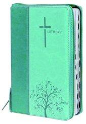 Luther21 - Taschenausgabe - Reißverschluss, Kunstleder dunkelblau/helltürkis