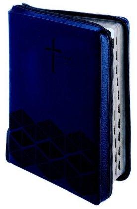 Luther21 - F.C.Thompson Studienausgabe - Reißverschluss, Kunstleder PU blau