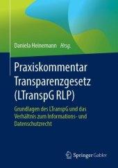 Praxiskommentar Transparenzgesetz (LTranspG RLP)