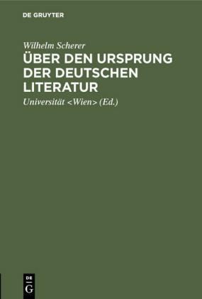 Über den Ursprung der deutschen Literatur