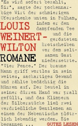 Louis Weinert-Wilton - Romane
