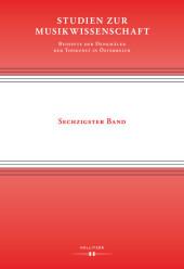 Studien zur Musikwissenschaft - Beihefte der Denkmäler der Tonkunst in Österreich. Band 60