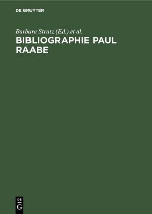 Bibliographie Paul Raabe