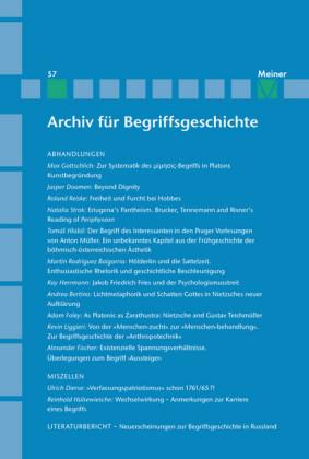 Archiv für Begriffsgeschichte / Archiv für Begriffsgeschichte. Band 57