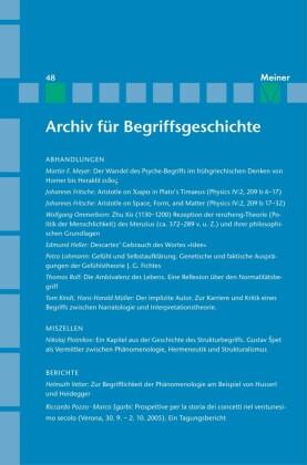 Archiv für Begriffsgeschichte / Archiv für Begriffsgeschichte. Band 48