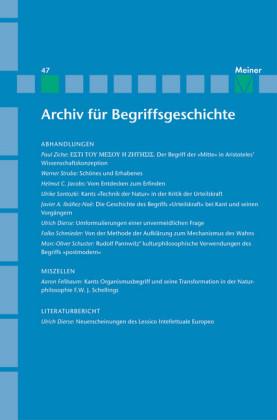 Archiv für Begriffsgeschichte / Archiv für Begriffsgeschichte. Band 47