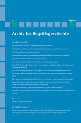 Archiv für Begriffsgeschichte / Archiv für Begriffsgeschichte. Band 55
