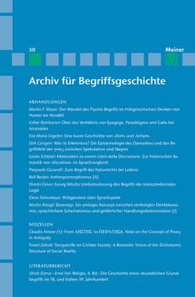 Archiv für Begriffsgeschichte / Archiv für Begriffsgeschichte. Band 50