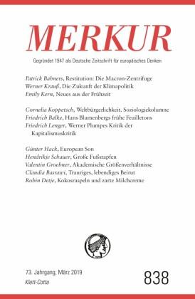 MERKUR Gegründet 1947 als Deutsche Zeitschrift für europäisches Denken - 2019-3