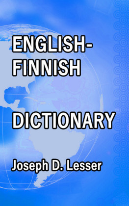 English / Finnish Dictionary