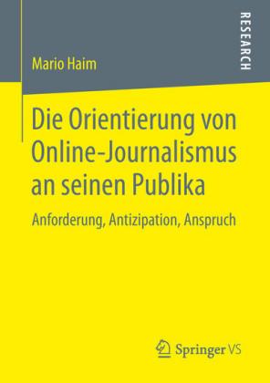 Die Orientierung von Online-Journalismus an seinen Publika