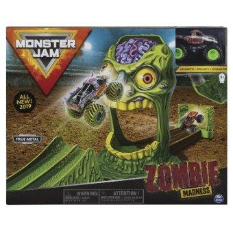 MNJ Monster Jam Playset Zombie Madn 1:64