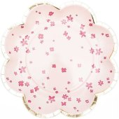 Pappteller Blume, Blüten, Rosa, Fsc Mix