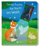 Timmi Fuchs bei Nacht im Wald, m. UV-Licht-Taschenlampe